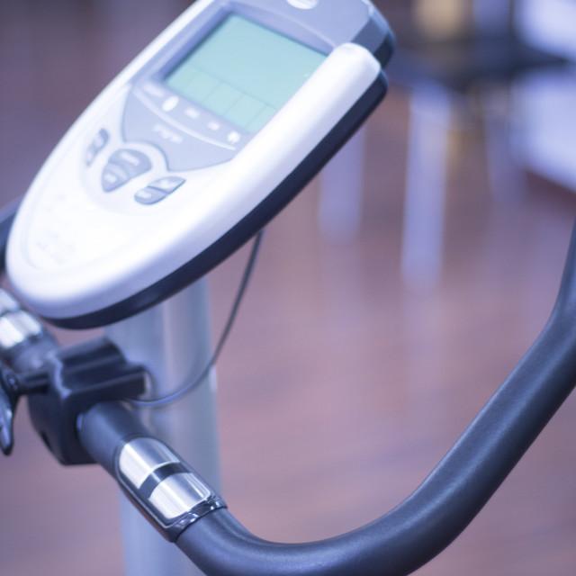 """Gym bike exercise cross trainer"" stock image"