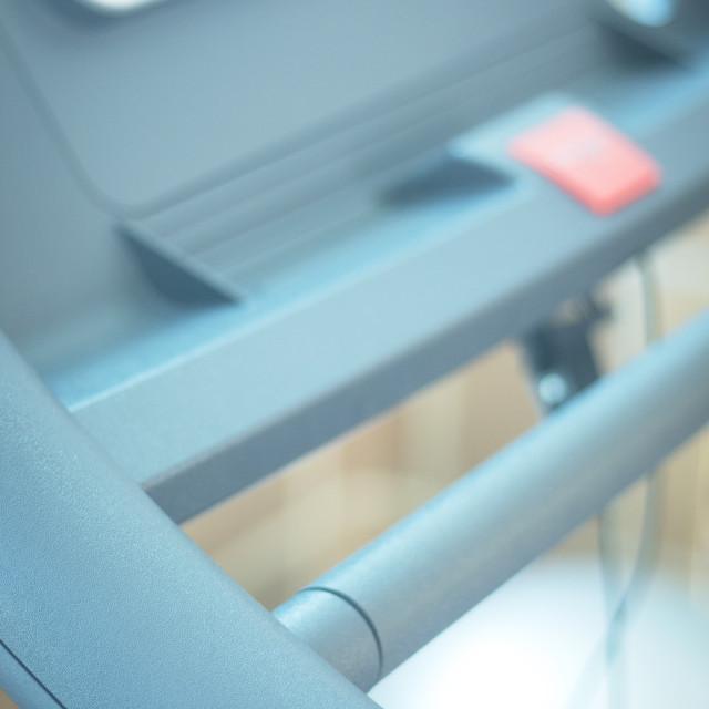 """""""Running machine in gym"""" stock image"""