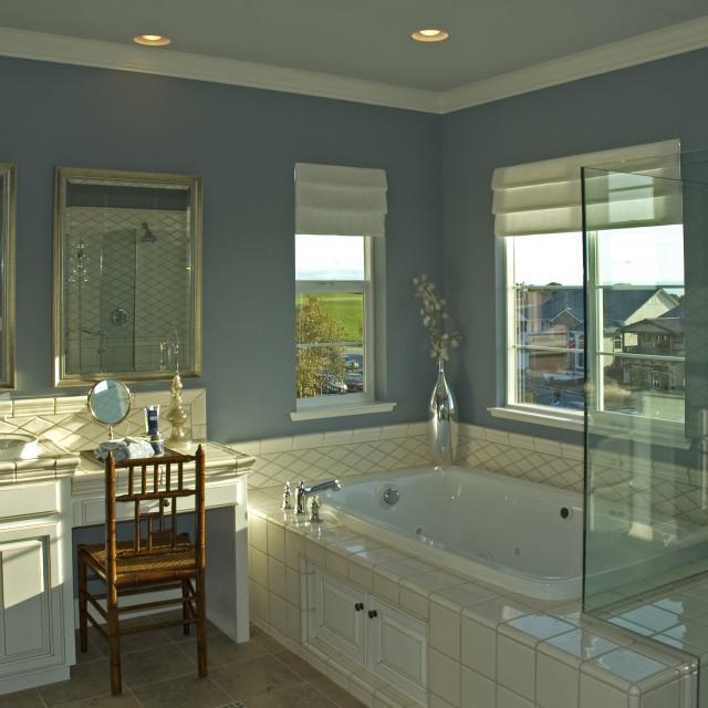 """Modern bathroom"" stock image"