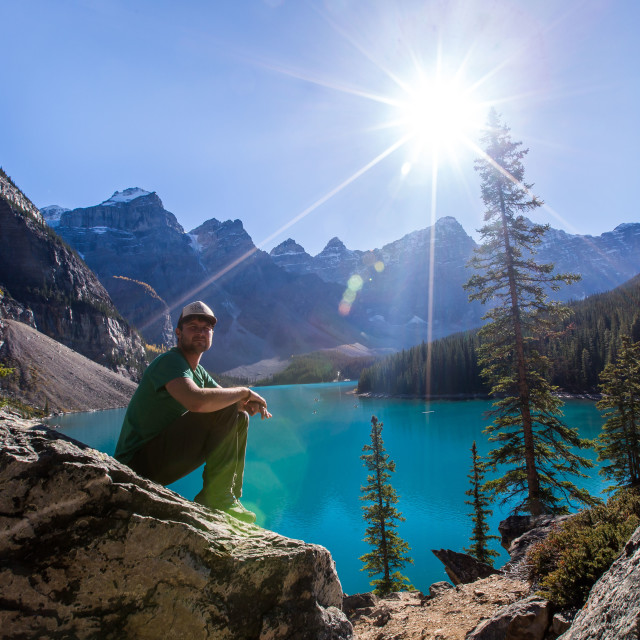 """Moraine Lake sunshine"" stock image"