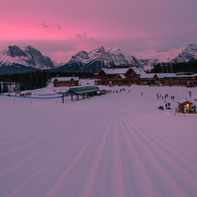 """""""Ski Resort Sunrise"""" stock image"""
