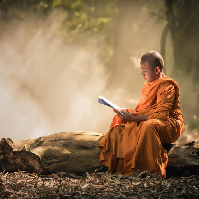 """Novice is learning religion"" stock image"