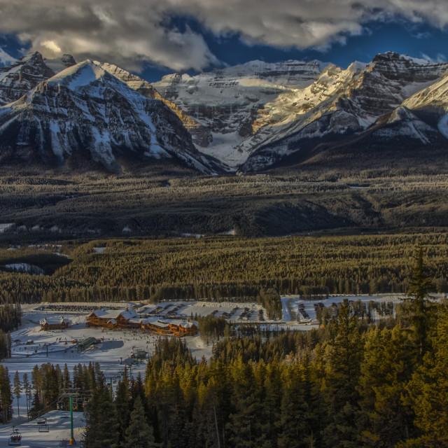 """""""Lake Louise Ski Resort"""" stock image"""