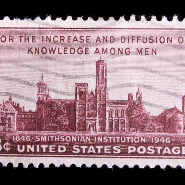 """Vintage US commemorative postage stamp"" stock image"