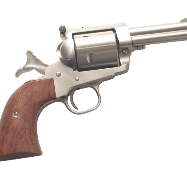 """Firearm-Cocked revolver"" stock image"