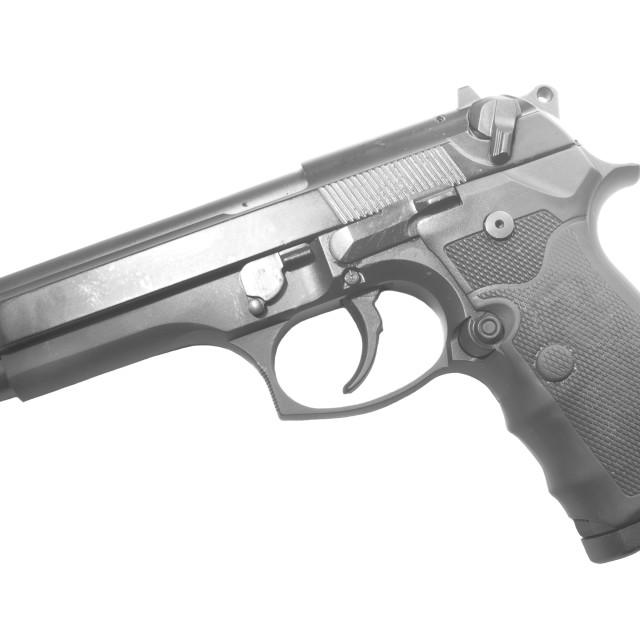 """""""Firearm-Semi-auto handgun"""" stock image"""