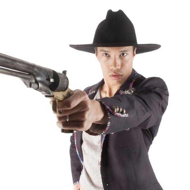 """Asian Cowboy"" stock image"