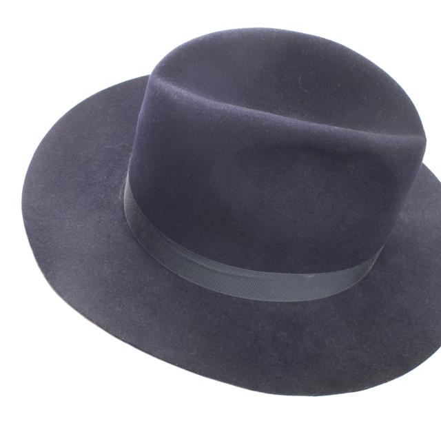 """""""Blue fedora style felt hat"""" stock image"""