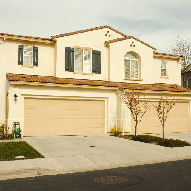 """""""Duet homes in California"""" stock image"""
