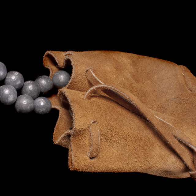 """""""pouch of lead ball"""" stock image"""
