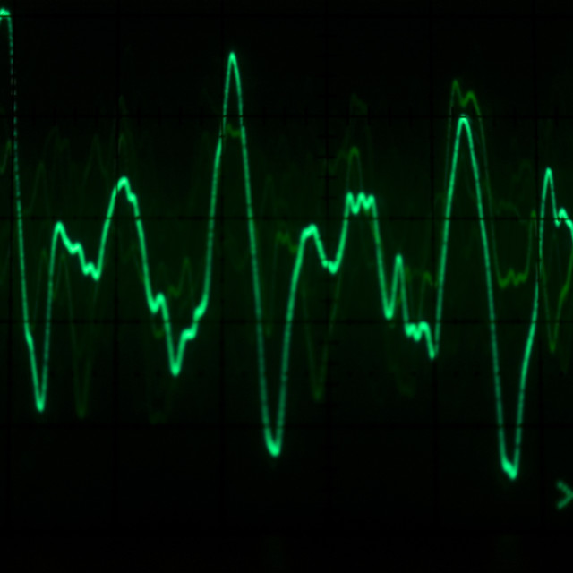 """Oscilloscope waveform"" stock image"