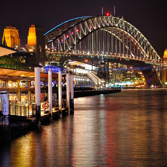 """Harbour Bridge from Circular Quay"" stock image"