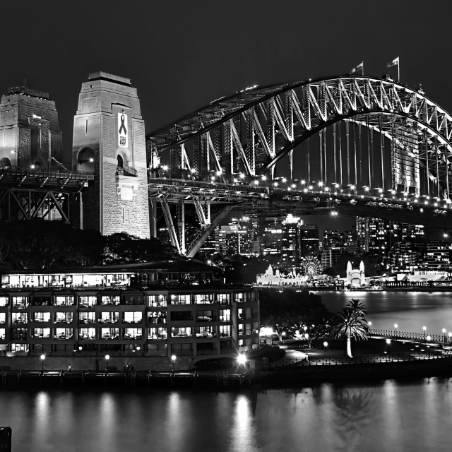 """Beautiful Sydney Harbour In Black And White"" stock image"