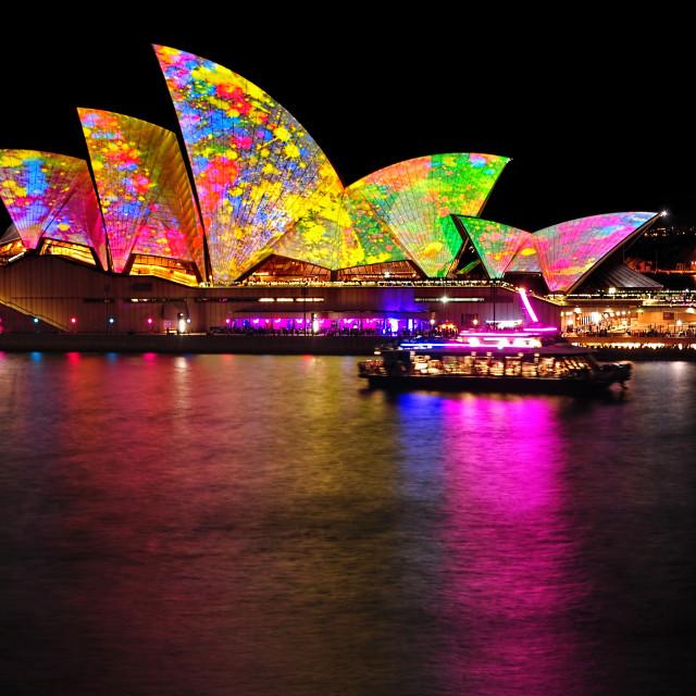 """Vivid Sydney 2014 - Opera House 4"" stock image"