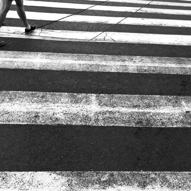 """Pedestrian crossing"" stock image"