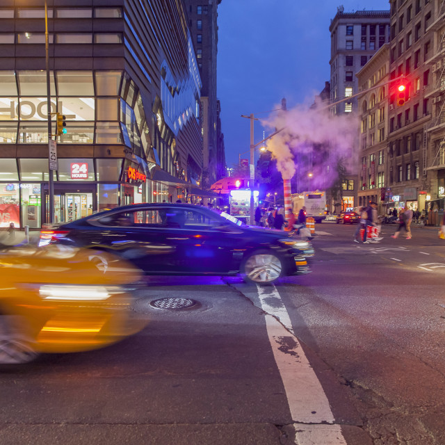 """""""NYC in the evening"""" stock image"""