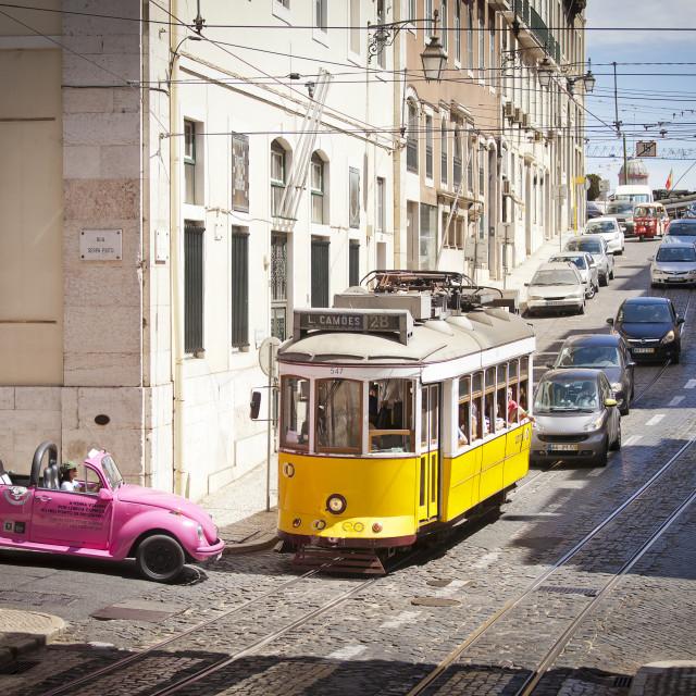 """Streets of Lisbon"" stock image"