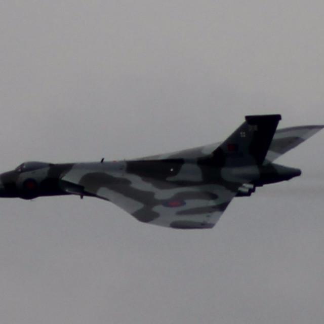 """Vulcan Bomber Over Partington"" stock image"