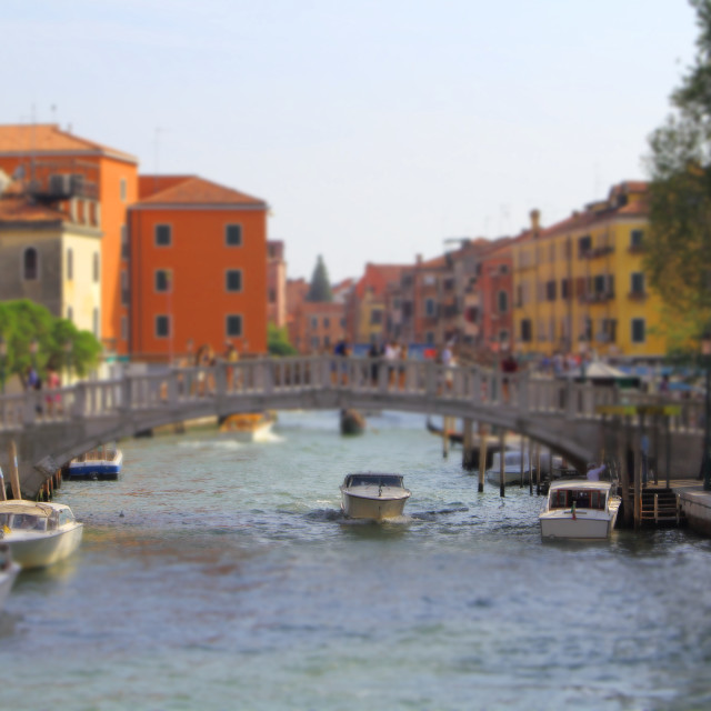 """Nice view of Rio Novo from Fondamenta Santa Caterina Bridge, Venice, Italy"" stock image"
