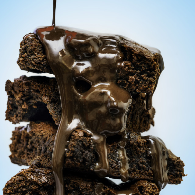 """delicious brownies"" stock image"