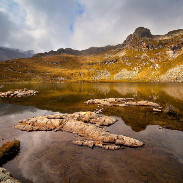 """Autumn lake"" stock image"