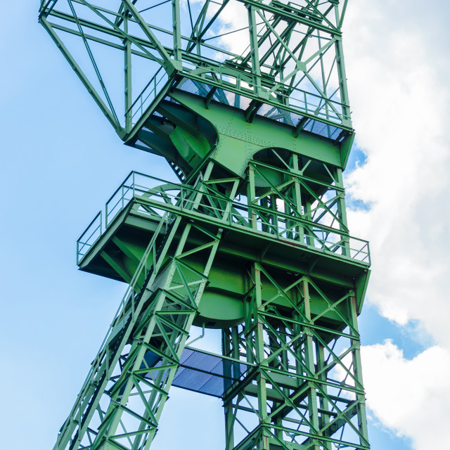 """Mines tower Zeche Carl Funke city of Essen"" stock image"