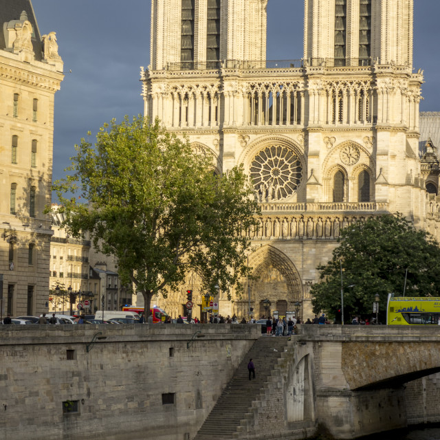 """Notre Dame in Evening Light"" stock image"