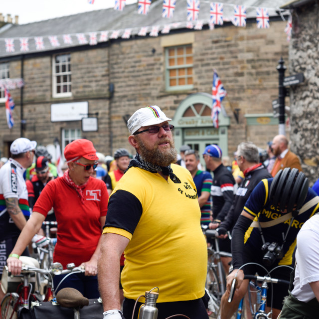 """""""Eroica Britannia Vintage Cycling Event,Bakewell,Derbyshire."""" stock image"""