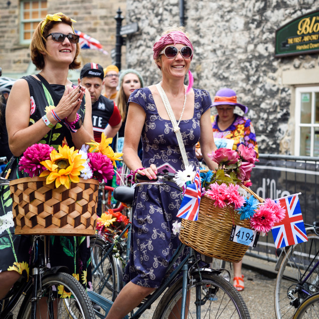 """Eroica Britannia Vintage Cycling Event,Bakewell,Derbyshire."" stock image"