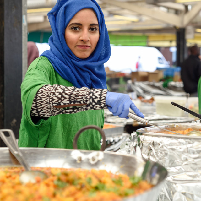 """Leicester,UK.21st August 2016:The Leicester belgrave mela gets underway today with live music,an Indian bazaar with plenty of Asian food stalls ."" stock image"