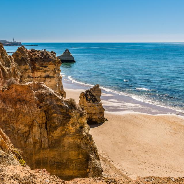 """""""Praia da Rocha in Portimao, Algarve"""" stock image"""