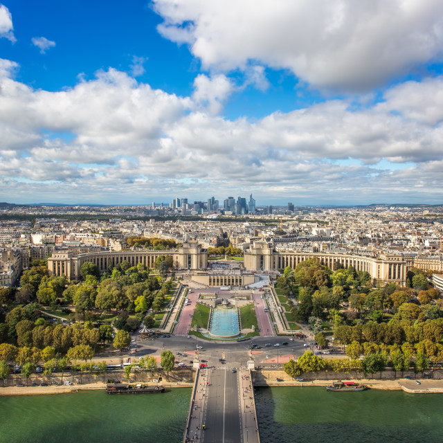 """""""Views from the Eiffel Tower"""" stock image"""