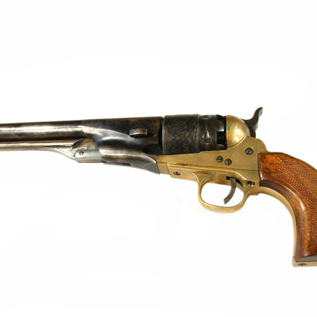 """antique revolver"" stock image"
