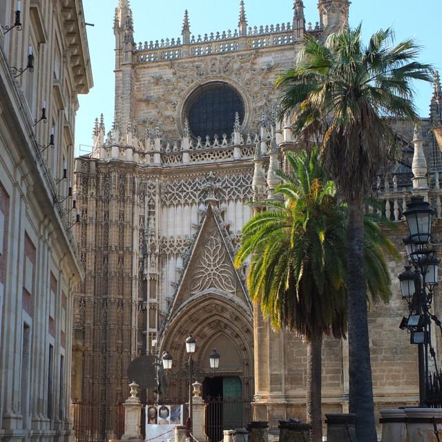 """Sevilla Cathedral Round Window"" stock image"