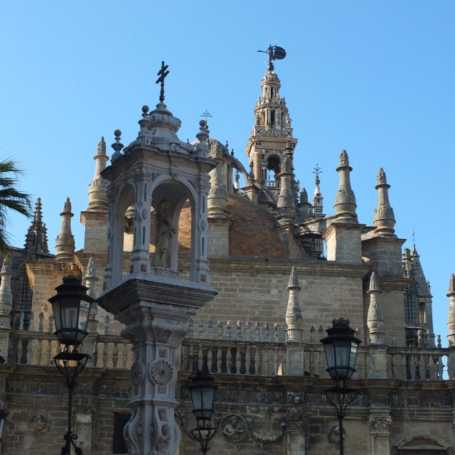 """Sevilla Cathedral With El Triunfo"" stock image"