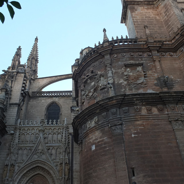"""""""Sevilla Cathedral Walled Detail"""" stock image"""