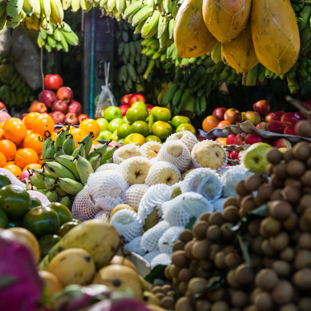 """Market display, fruits abroad"" stock image"