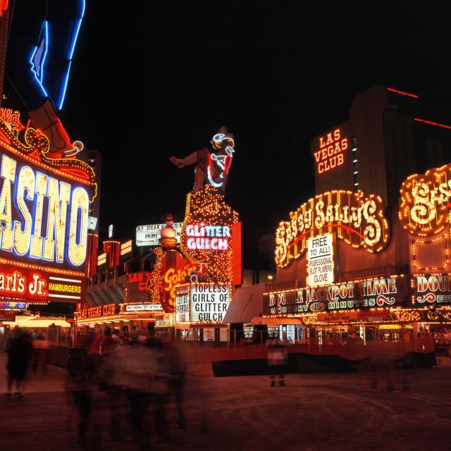 """""""Las Vegas casinos, Nevada, USA."""" stock image"""