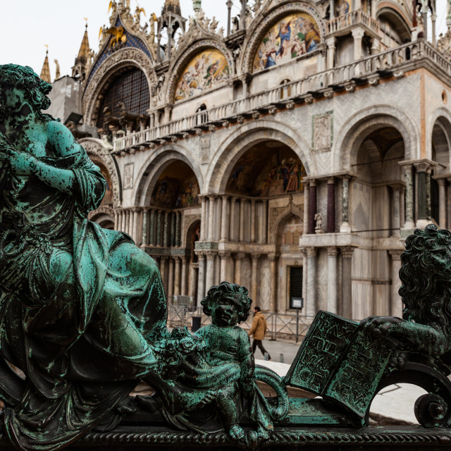 """Basilica di San Marco"" stock image"