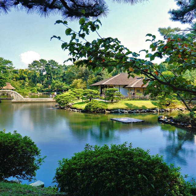"""Shukkeien 縮景園 garden Hiroshima"" stock image"