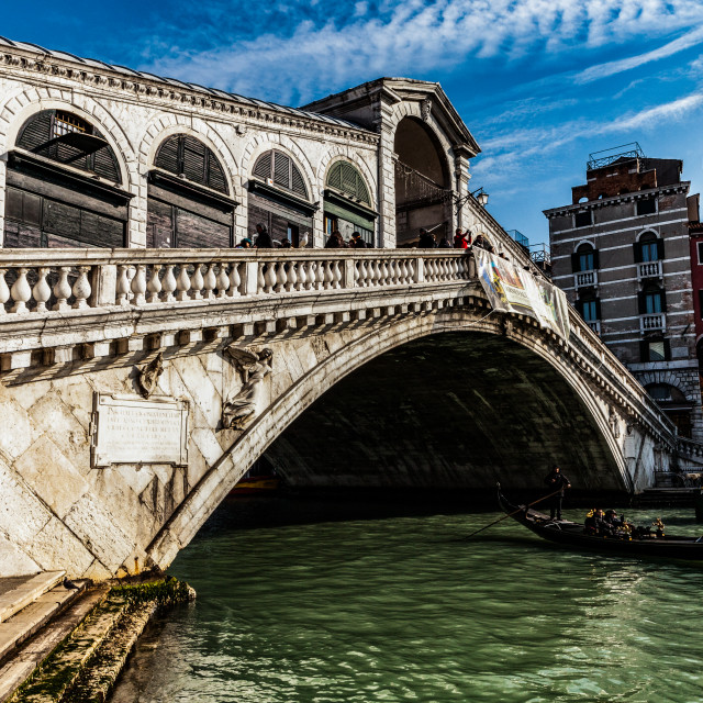 """Rialto Bridge"" stock image"