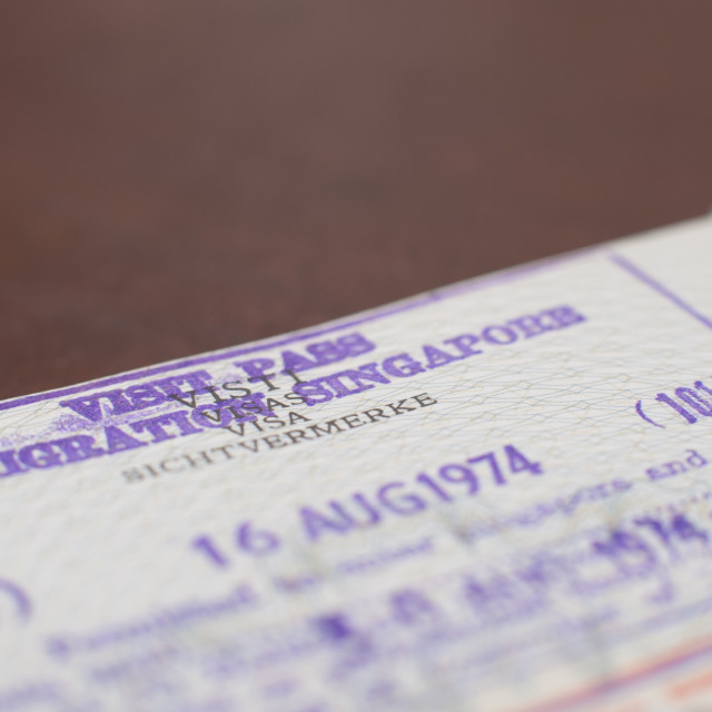 """Singapore airport thailand passport visa"" stock image"