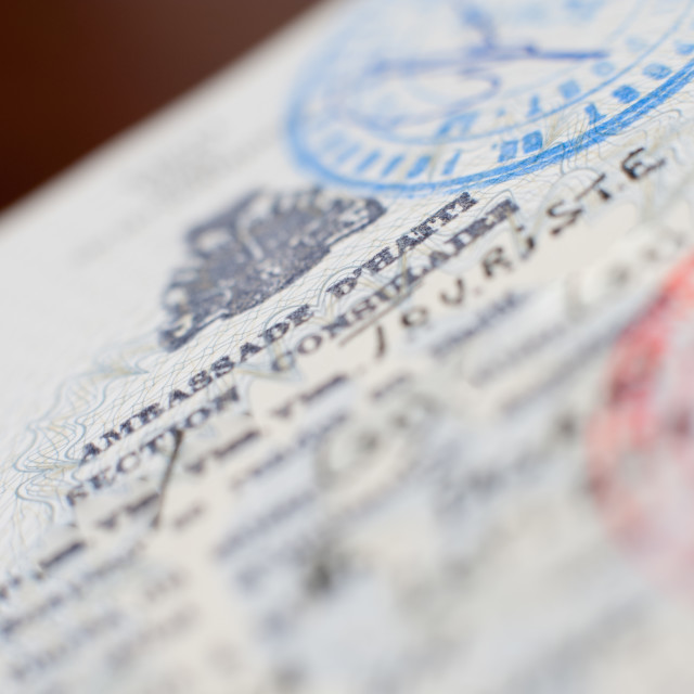 """Haiti embassy visa on foreign passport"" stock image"