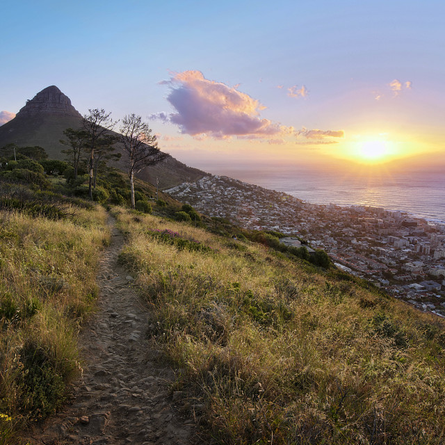 """Sunset over Lion's Head"" stock image"