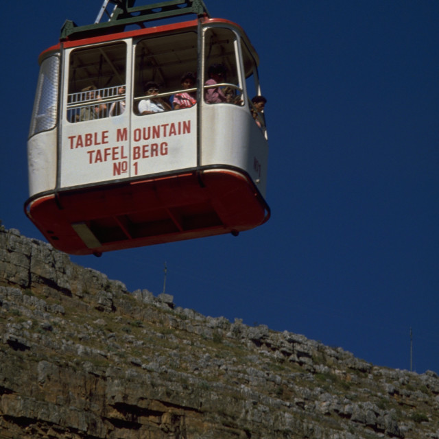 """Table Mountain Cable Car"" stock image"