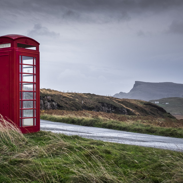 """Kilmaluag telephone box"" stock image"
