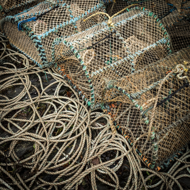 """""""Lobster cages"""" stock image"""