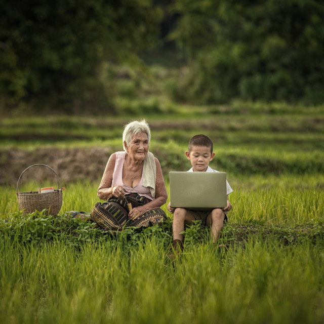 """Education in rural Thailand."" stock image"