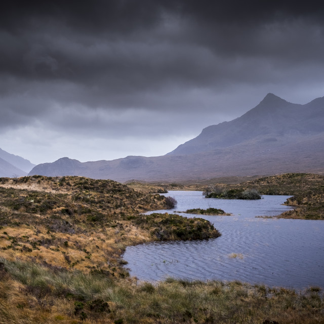 """The Cuillin Hills II"" stock image"