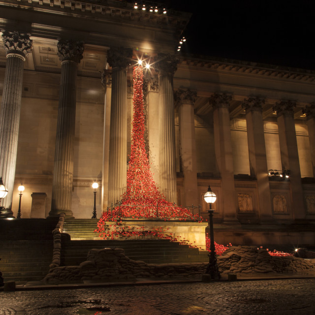 """Weeping Window at St Georges Hall Liverpool"" stock image"